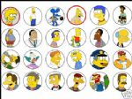 24 Simpsons Rice Cake Tops Toppers - 1.6'' Great size